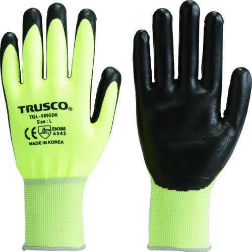 上質 代表画像 色 サイズ等注意 TRUSCO 耐切創手袋 蛍光イエロー 新入荷 流行 S レベル3 TGL-5895DK-S