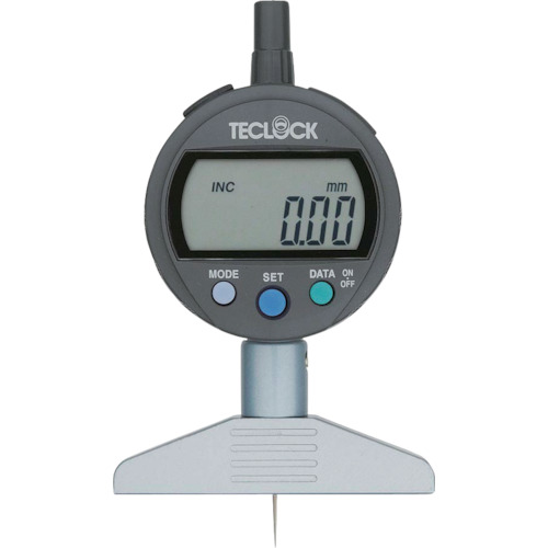 テクロック デジタルデプスゲージ 測定範囲12mm DMD-210J
