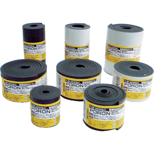 イノアック マイクロセルウレタンPORON 黒 3×100mm×24M巻(テープ L24T-3100-24M