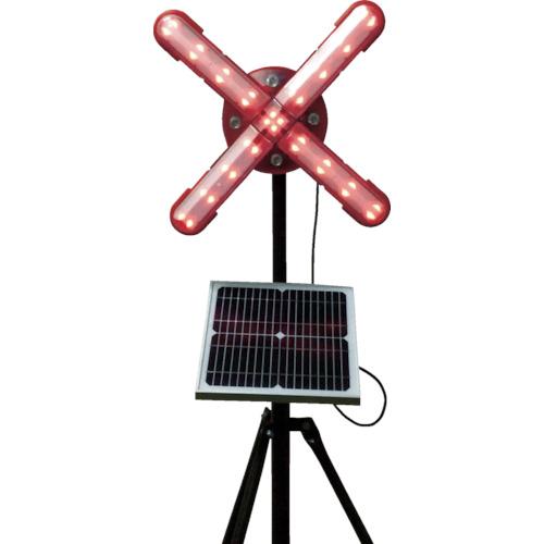 仙台銘板 ネオクロスアロー ソーラー式大型回転灯 三脚付 電源セット 3050850