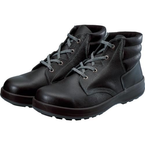 シモン 3層底安全編上靴 25.0cm ブラック WS22BK-25.0
