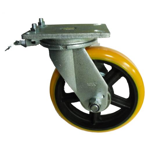 ヨドノ 重量用高硬度ウレタン自在車250φ旋回ロック付 SDUJ250TL
