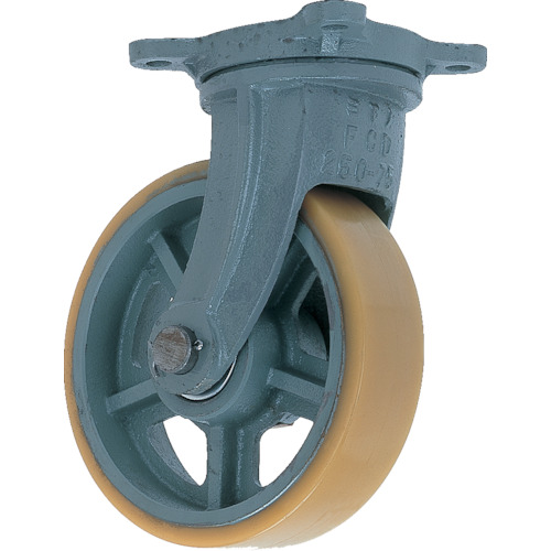 UHBーg250X90 UHB-G250X90 鋳物重荷重用ウレタン車輪自在車付き ヨドノ