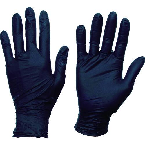 TRUSCO 使い捨てニトリル手袋TGスタンダード スピード対応 アウトレット☆送料無料 全国送料無料 0.08粉無黒M TGNN08BKM 100枚