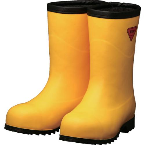 SHIBATA 防寒安全長靴セーフティベアー#1011白熊(イエロー)フード無し AC101-23.0