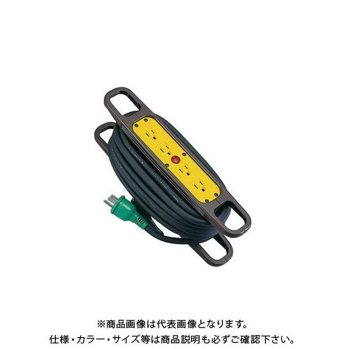 タスコ TASCO ハンドリール(アース付、15A×10m) TA649HR