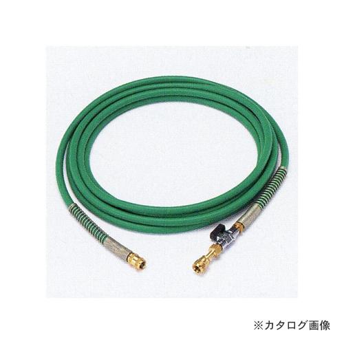 タスコ TASCO TA381KB-5 バルブ付耐圧ホース (1/4FメスX1/4Fメス) 5m