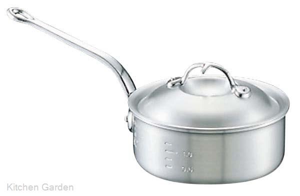 アルミ ニューキング 浅型 片手鍋(目盛付)24cm