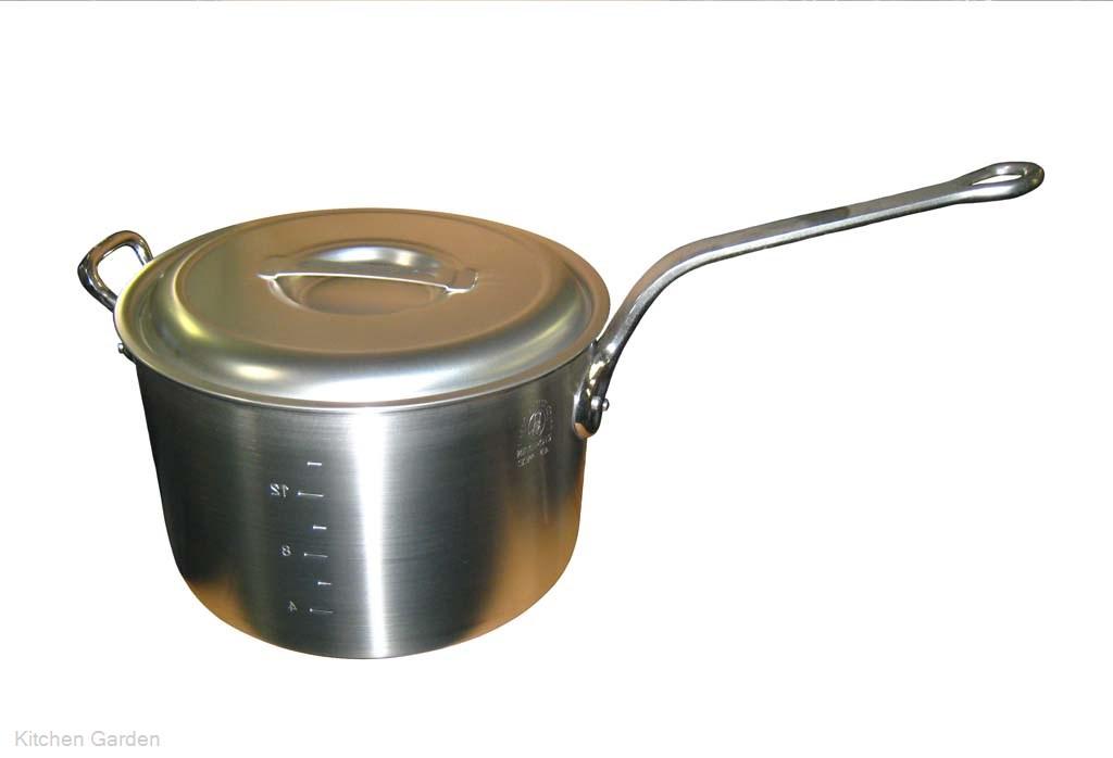 アルミ キング 深型 片手鍋(目盛付)33cm