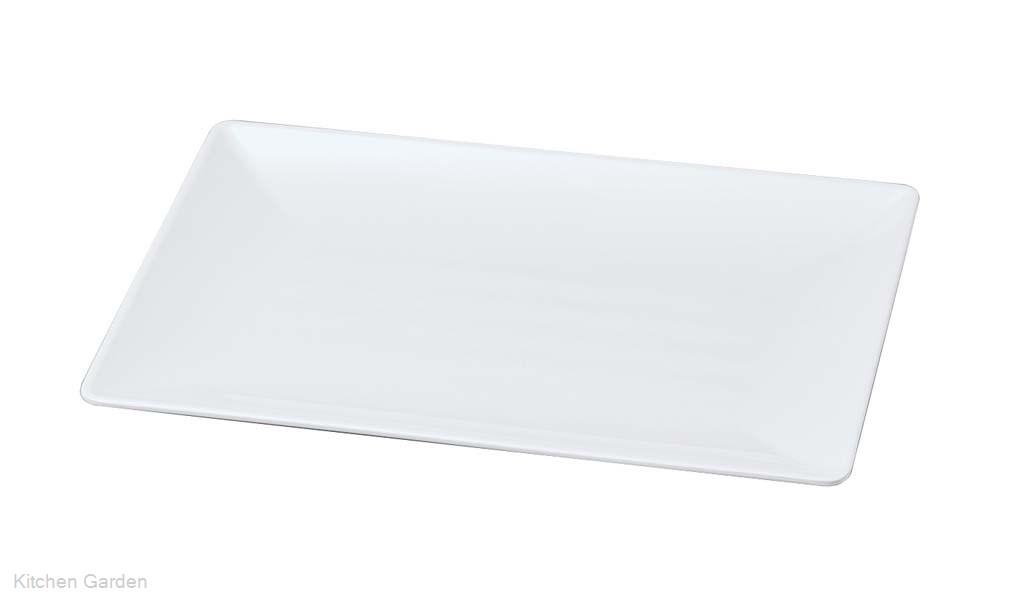 ニューホワイト 長角筋入盛皿 45cm