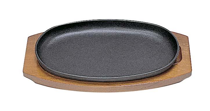ステーキ皿用品 SN 鉄 ステーキ皿 セール 特集 鉄製 25cm 小判型D テレビで話題 .