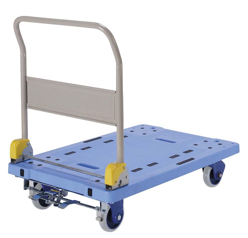 静音台車フットブレーキ付 (ハンドル折畳式) デシベル NP306GS
