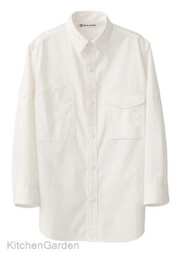 男女兼用七分袖シャツ CH4434-0 ホワイト SS