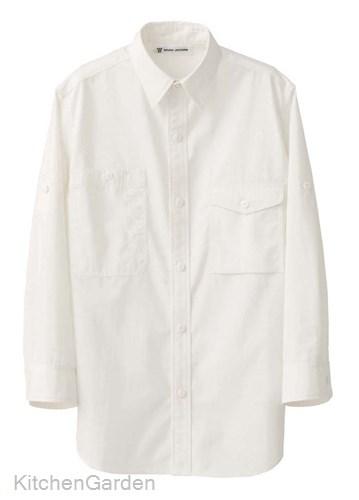 男女兼用七分袖シャツ CH4434-0 ホワイト L
