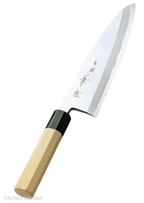 兼松作 青二鋼 出刃庖丁 18cm