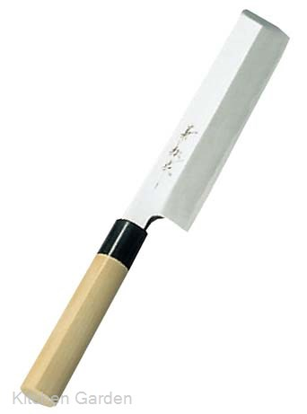 兼松作 日本鋼 薄刃庖丁 21cm