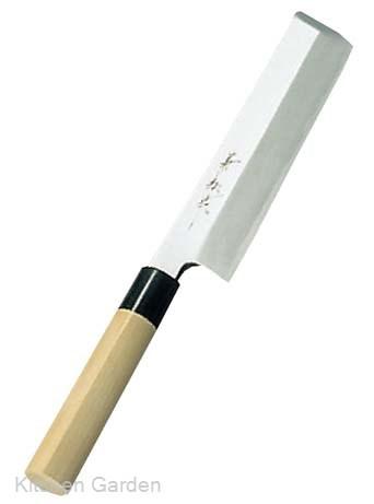 兼松作 日本鋼 薄刃庖丁 24cm