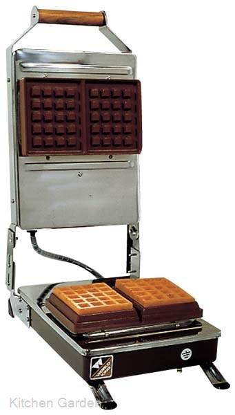 電気式 角型 ワッフルベーカー KB-2WS【他商品との同梱配送不可・代引不可】
