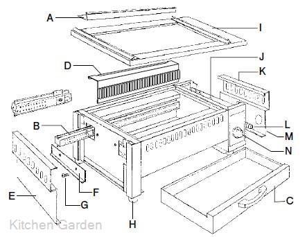 【部品商品】 EBM 遠赤串焼器500型用 水槽 (1枚) [串焼器本体別売]【他商品との同梱配送不可・代引不可】
