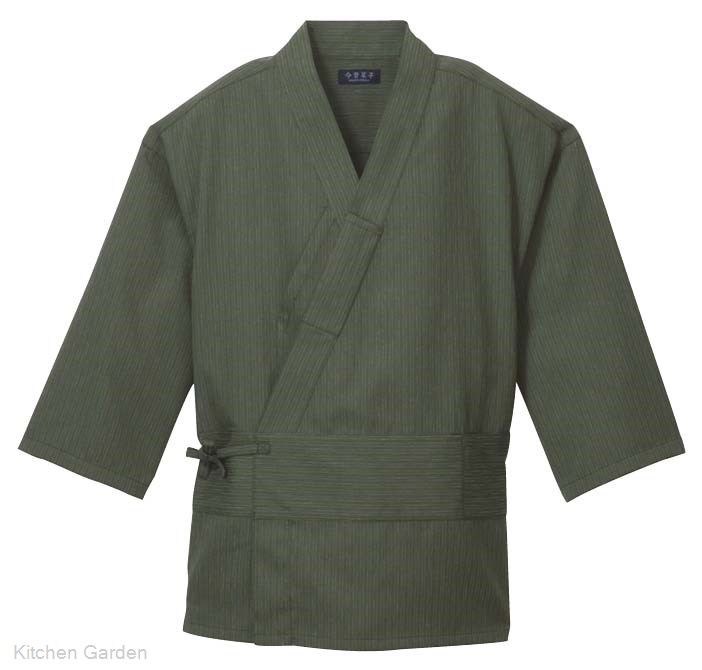 作務衣(男女兼用) KJ0020-4 緑 4L