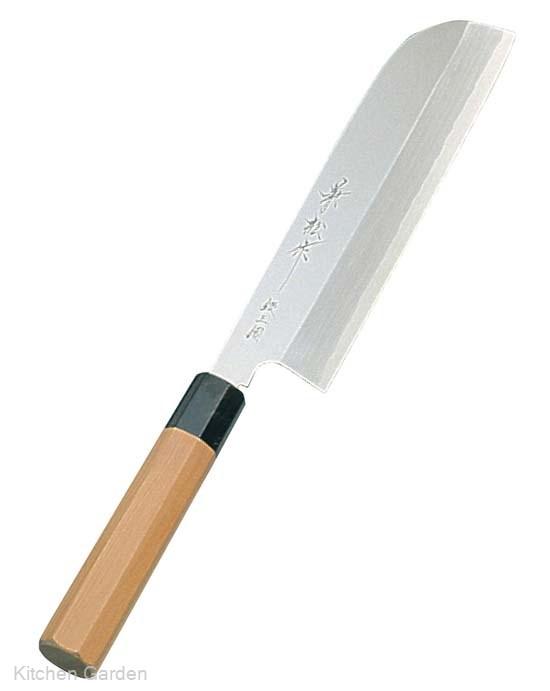 兼松作 銀三鋼 鎌型薄刃庖丁 21cm