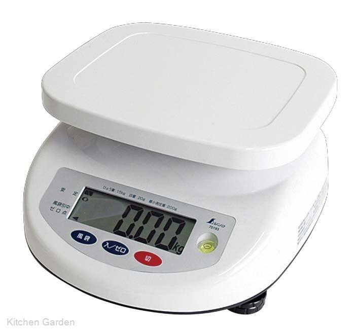 シンワ デジタル上皿はかり 15kg 取引証明用 70193
