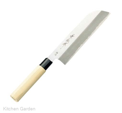兼松作 贈呈 特撰 人気 19.5cm 鎌型薄刃包丁