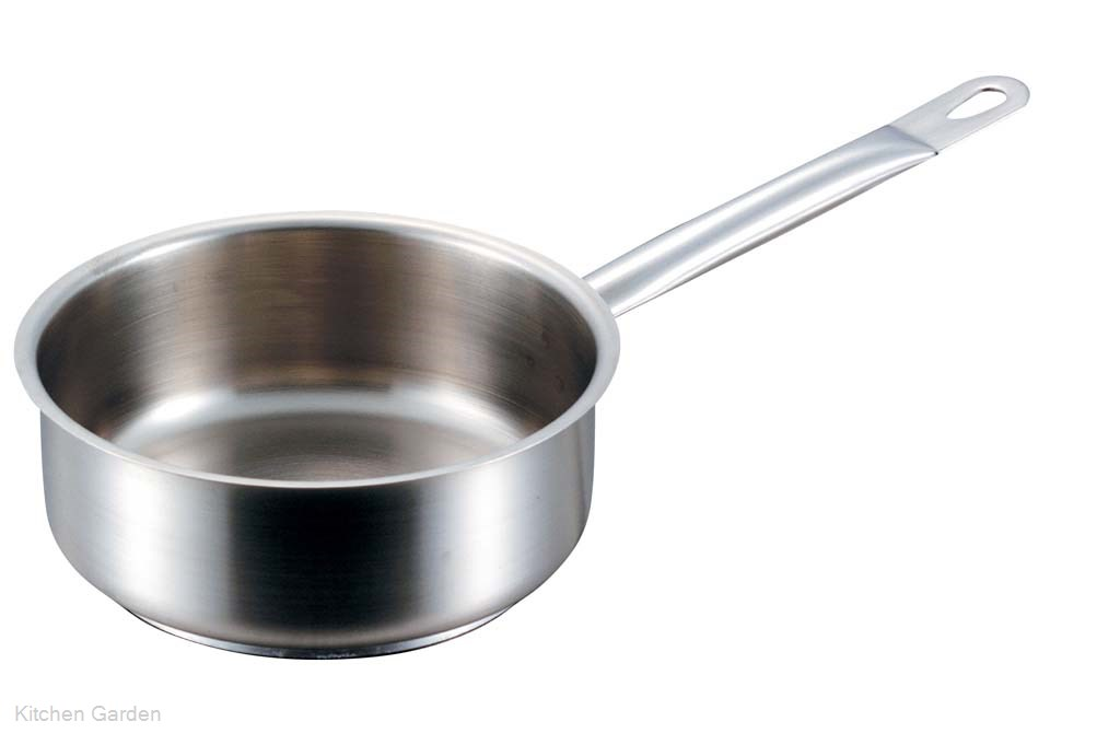 パデルノ 浅型片手鍋(蓋無) 1008-32cm .[IH電磁調理器対応]