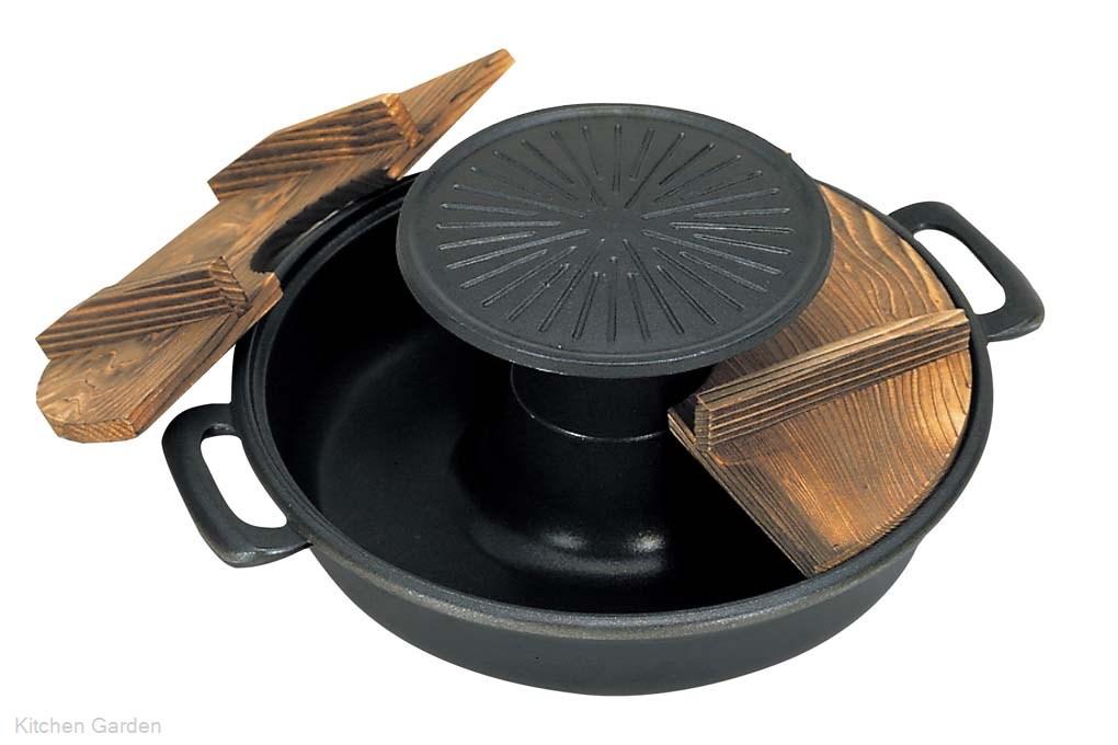五進 アルミ (フッ素加工) 焼きしゃぶ鍋 30cm (J-53)