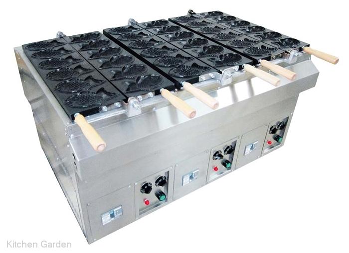 [業務用鯛焼き器(たい焼き器)] 電気式 たい焼機3連 KTI-3【他商品との同梱配送不可・代引不可】