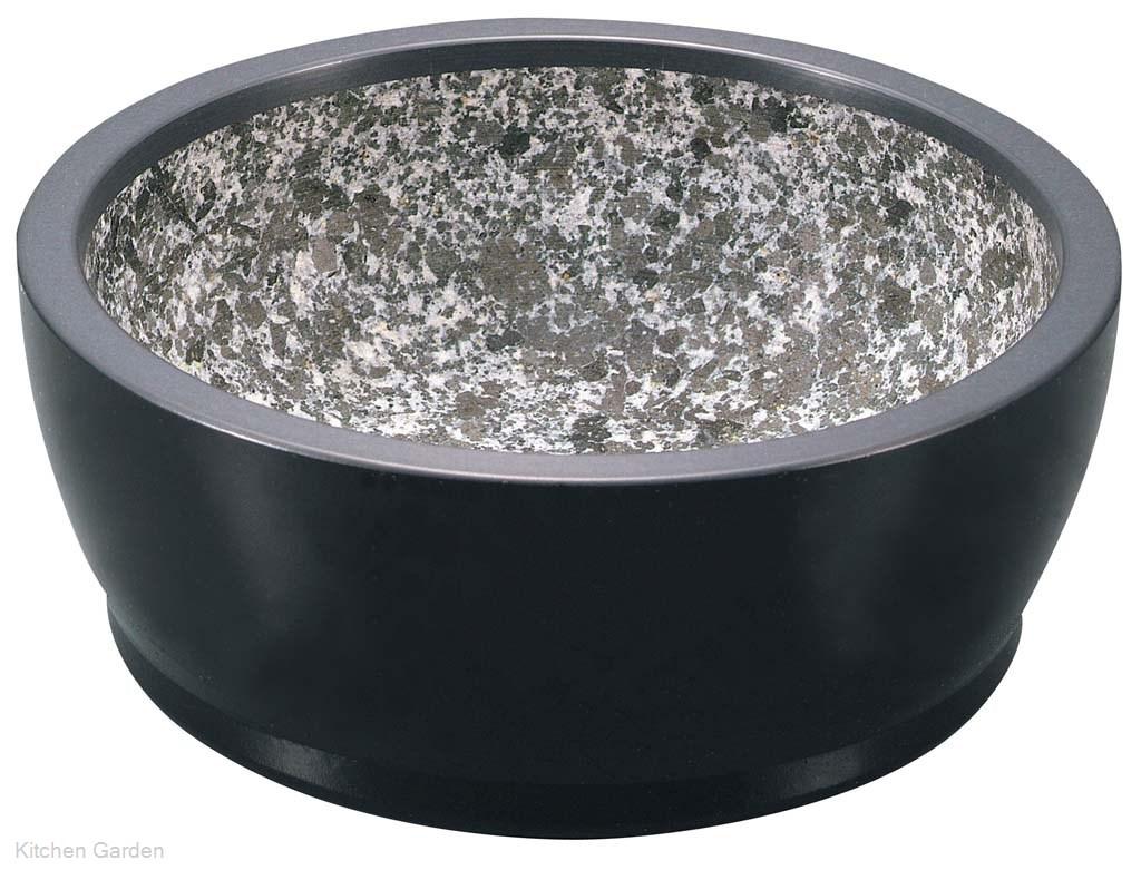 石焼ビビンバ鍋 石焼きの器で韓国料理石鍋 ハードコート 販売期間 贈呈 限定のお得なタイムセール 石焼ビビンバ 艶消ブラック アルミ枠付 19cm