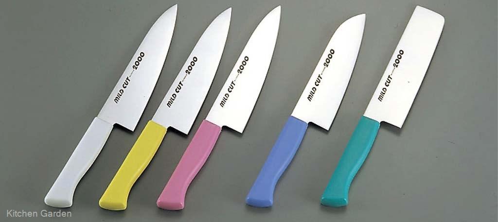 蔵 年間定番 牛刀庖丁 牛刀包丁 MILD CUT-2000 カラー庖丁 18cm 牛刀 MCG グリーン