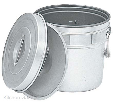 アルマイト 段付二重食缶(内側超硬質ハードコート)246-I 8リットル .[アルマイト]