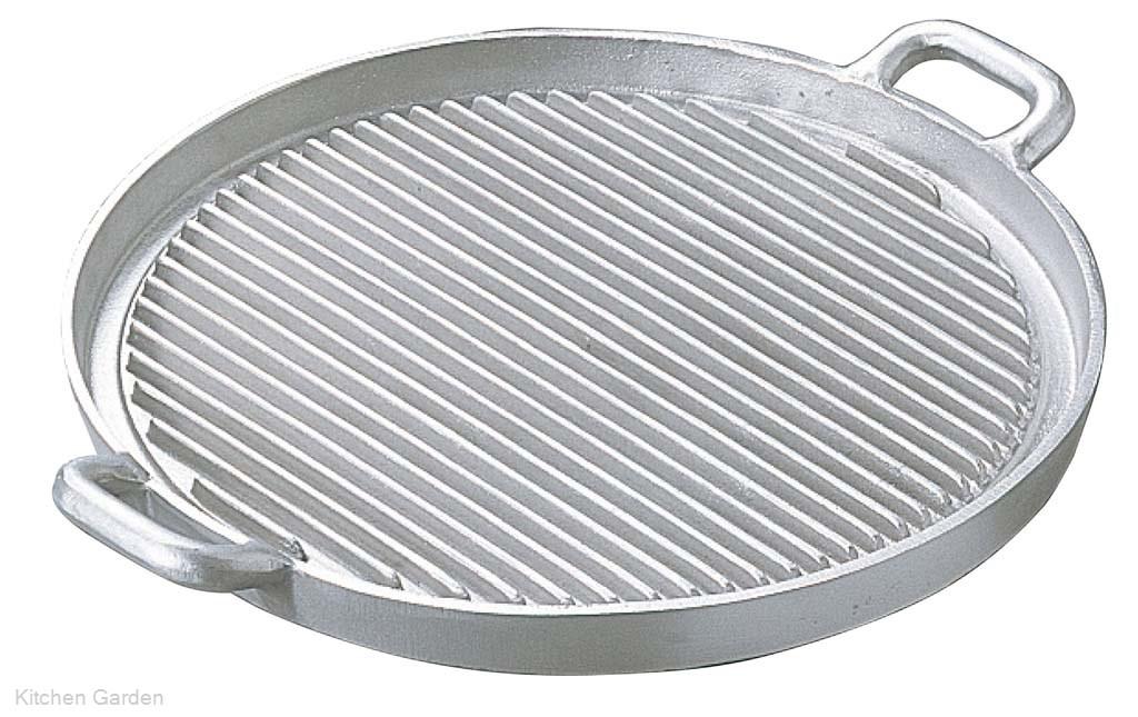 アルミイモノ 丸型 ステーキパン 大 570×460