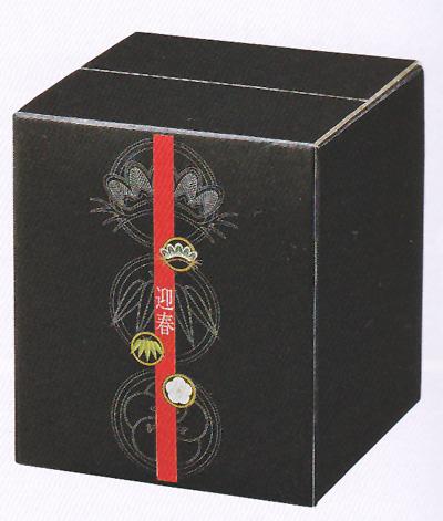 コートボールボックス 黒松竹梅 (10入り) 6.5寸用