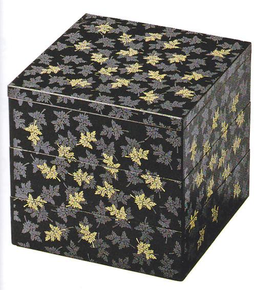 七福重 黒 シノブ 6.5寸 【3段セット】【他商品との同梱配送不可・代引不可】