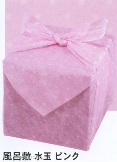 風呂敷 水玉 ピンク 90cm角(200枚入) .【お正月おせち重箱用包み】