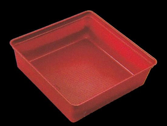 6.5寸重箱用 ワンウェー仕切り PS6.5-4/9タイプ (4/9角) 100個入り 【朱】【他商品との同梱配送不可・代引不可】