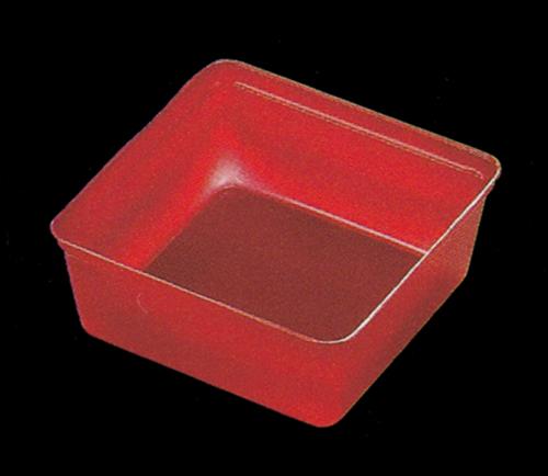6.5寸重箱用 ワンウェー仕切り PS6.5-4タイプ (四ツ用) 100個入り 【朱】【他商品との同梱配送不可・代引不可】