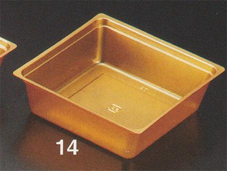 PP金カップ 92mm 正角 [200入り]【他商品との同梱配送不可・代引不可】