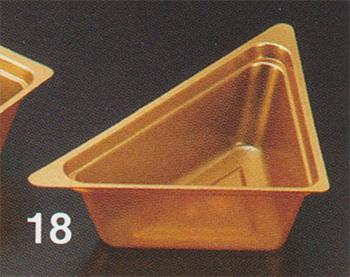 PP金カップ 95×65×132mm 三角 [200入り]【他商品との同梱配送不可・代引不可】