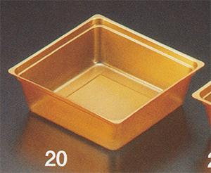 PP金カップ 100mm 正角 [200入り]【他商品との同梱配送不可・代引不可】