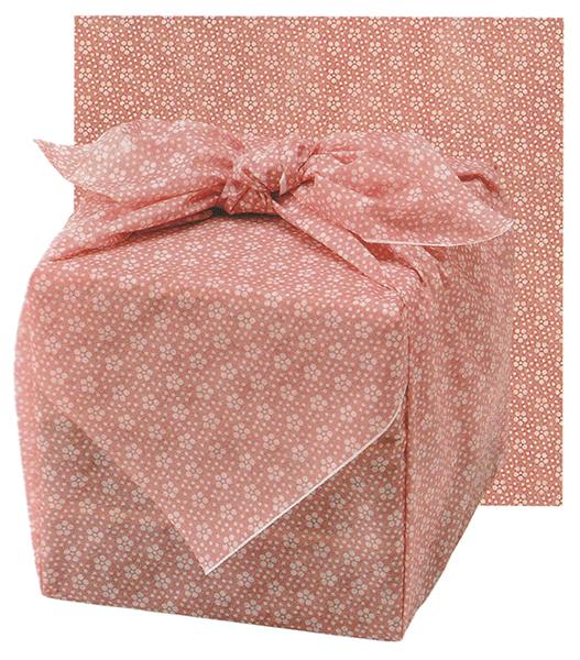 迎春風呂敷 アラカルト梅小紋 赤 66cm角 [200枚入り]【他商品との同梱配送不可・代引不可】