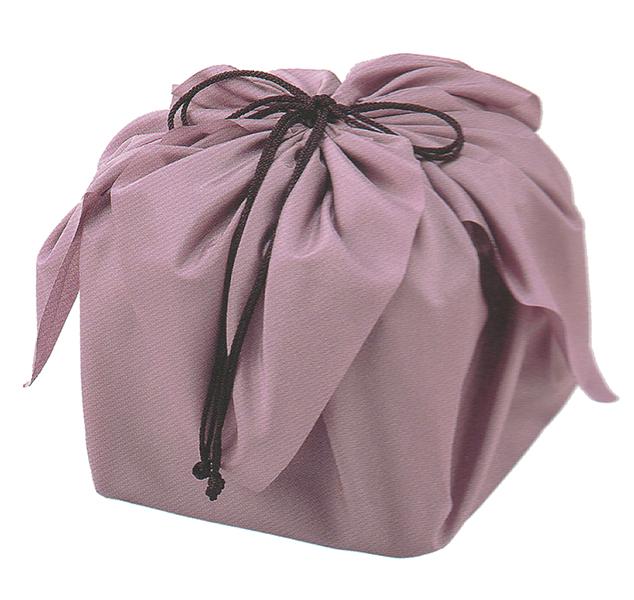 迎春京風呂敷 デシン巾着袋 紫苑(しおん) 6.5寸~7.0寸お重用【他商品との同梱配送不可・代引不可】
