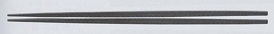 PBT樹脂箸(日本製) 22.5cm 卵中角箸 黒OM