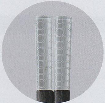 アクリル樹脂&PBT樹脂コラボ箸(日本製) 23.0cm アクリルコラボ箸 チェーンシルバー