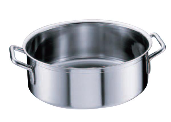 シットラムイノックス平鍋 三重底 (蓋無)40R 40cm .[18-10 ステンレス製]