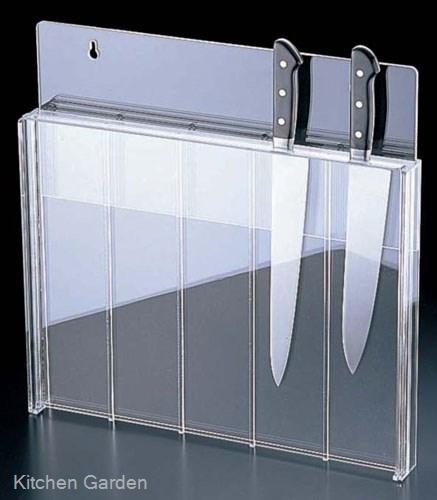 アクリル製 庖丁スタンド(釘打式) 透明色