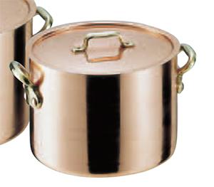SAエトール銅 半寸胴鍋 18cm .【銅製寸胴鍋】