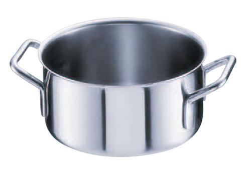 シットラムイノックス18-10 ステンレス 半寸胴鍋 三重底 (蓋無)30B 30cm